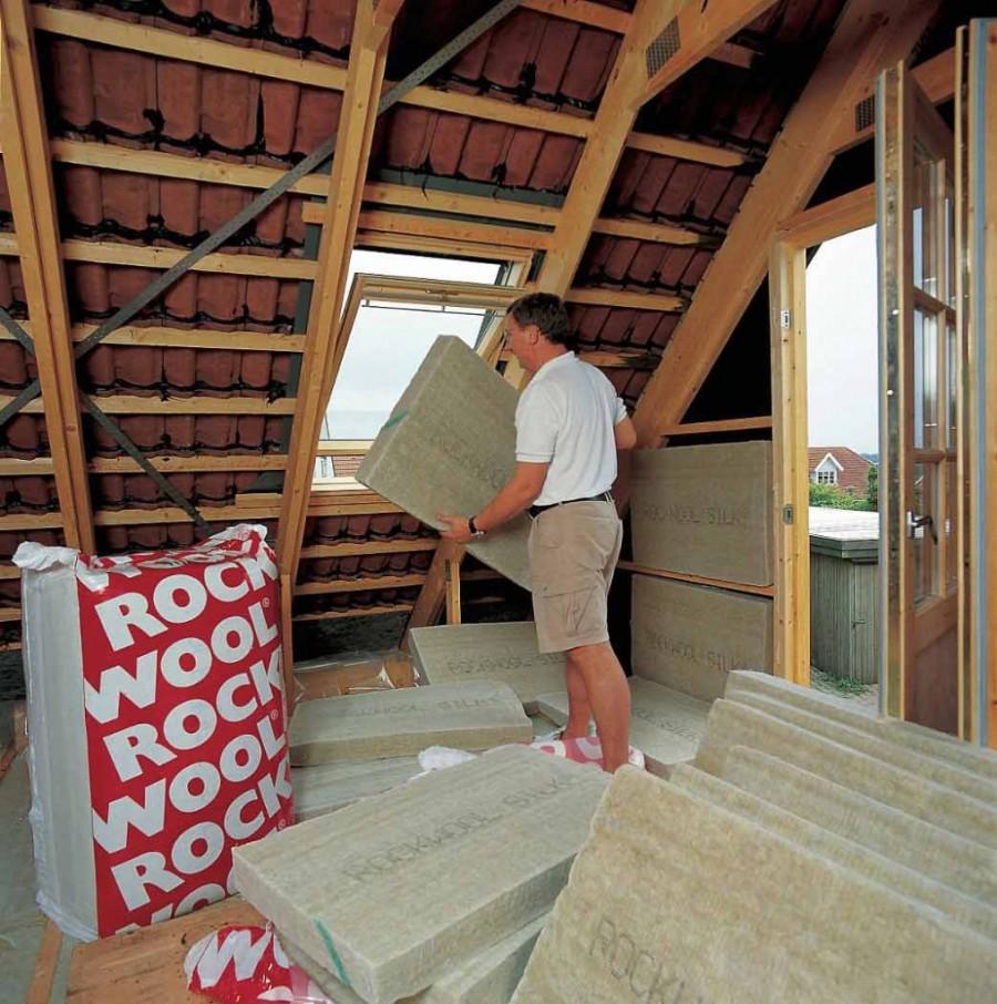 Чем и как утеплить крышу схема
