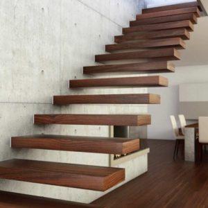Деревянные ступени для лестниц – рекомендации по применению деревянной отделки для бетонных лестниц
