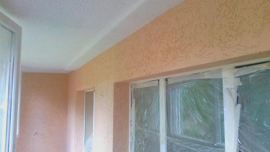 про легкую декоративная штукатурка короед фото стен балкона бывшим мужем
