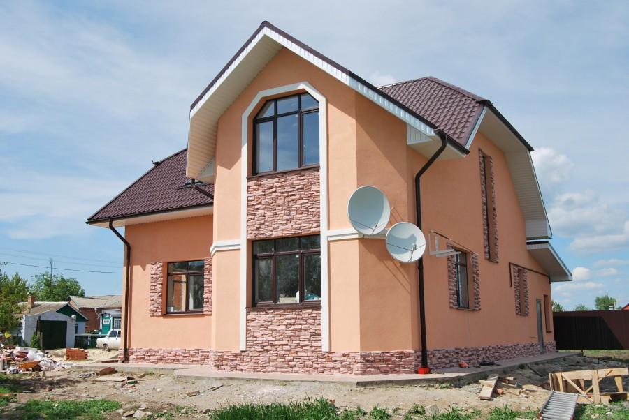 фасады домов под штукатурку